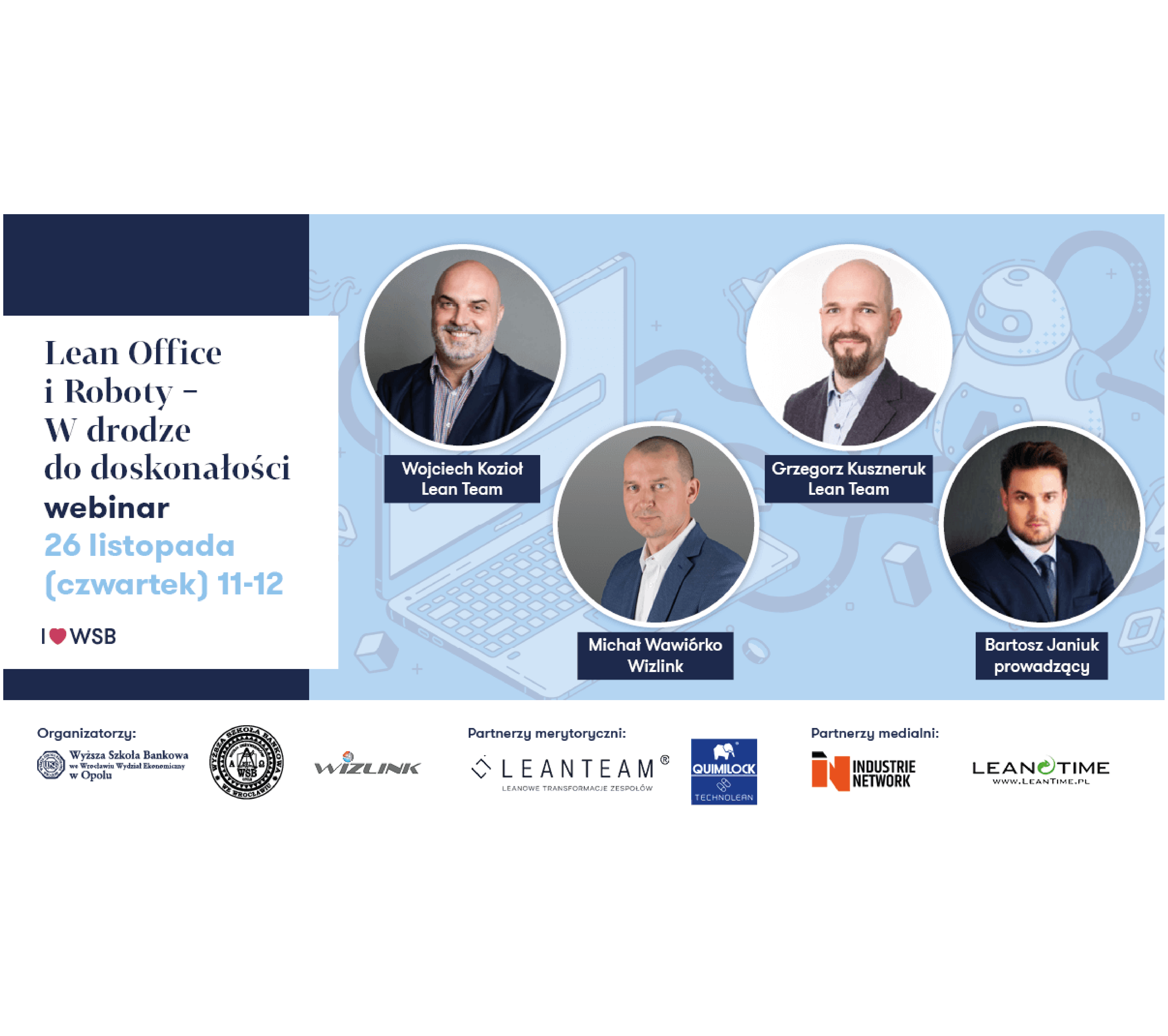 """Read more about the article Webinar """"Lean Office and Robots – On the road to excellence."""""""