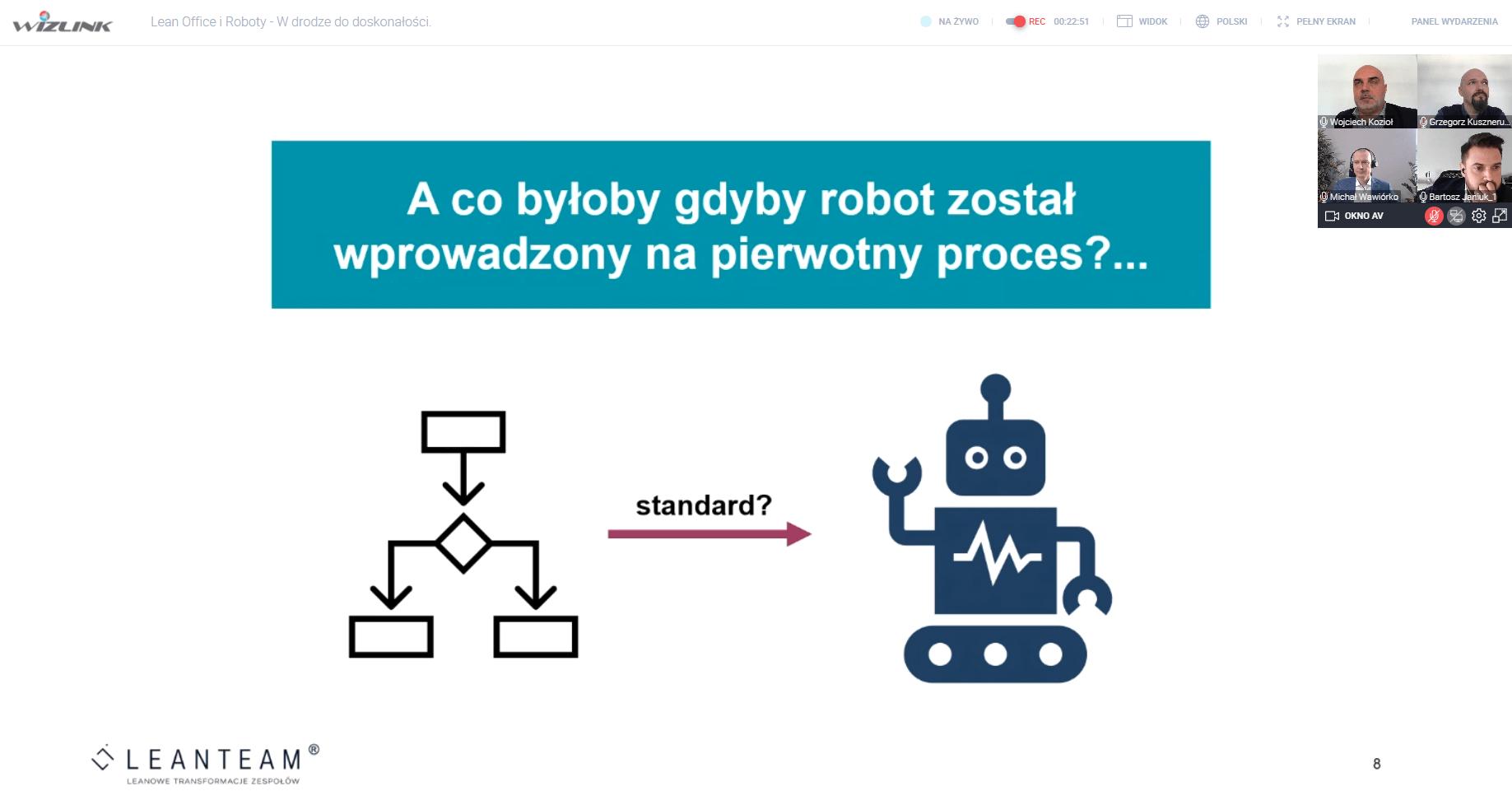 Read more about the article Roboty jako naturalne rozszerzenie lean – podsumowanie webinarium